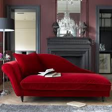 fabulous modern red faux velvet reclining chaise lounge design