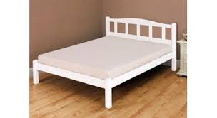 snuggle beds amberley white wooden single bed frame