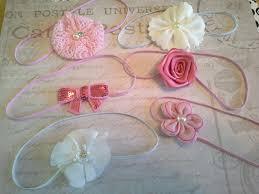 vintage headbands set 6 headbands baby headbands newborn headbands wedding