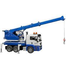bruder man tgs crane truck with light u0026 sound educational toys