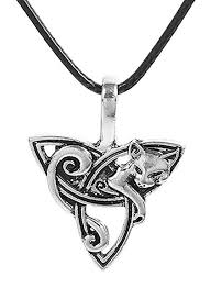 leather necklace knot images Best wing jewelry quot celtic knot w cat fox pendant pu leather jpg