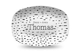 engraved platter wedding gift black dot personalized platter wedding gift for gift for