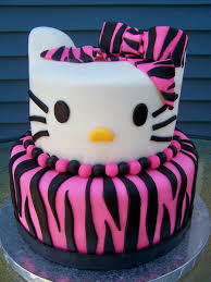 zebra print hello kitty birthday cake cakecentral com