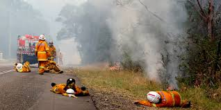 Donald Burns Resume Writer Exhausted Australian Firefighters Catch Sleep Wherever They Can