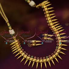 kerala style earrings nl12420 kerala style one gram gold delicate necklace