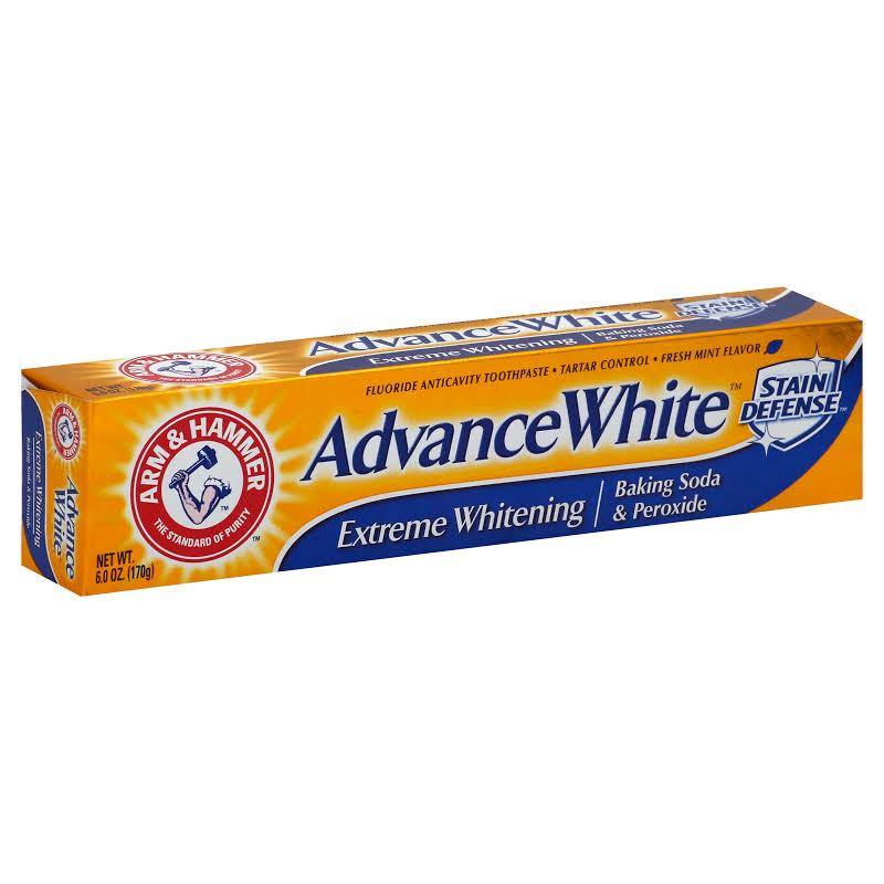 Arm & Hammer Advance White Extreme Whitening BakingSoda & PeroxideToothpaste 6OZ