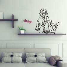 stickers chambres aller garçon pikachu bricolage vinyle stickers muraux pour