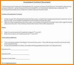 investor contract sample hitecauto us