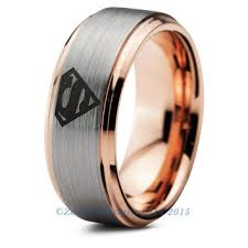superman wedding rings superman tungsten wedding band ring mens from zealot designs