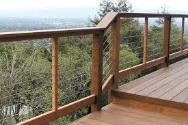 How To Put Up A Handrail Installing Cable Railings Professional Deck Builder Fencing