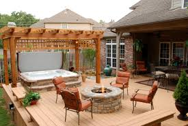 backyard gazebo with fire pit home outdoor decoration