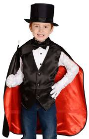 halloween costume with cape amazon com aeromax jr magician with cape vest hat gloves