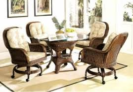 Wicker Kitchen Furniture Dining Room Chairs With Casters Foter