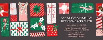 gift exchange online invitations evite com