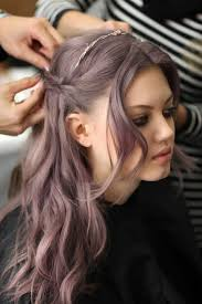 salt and pepper hair with lilac tips lilac grey pinteres