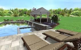 Pool And Patio Furniture 3d Pool Design Custom Deck U0026 Landscape Designs Fronheiser Pools