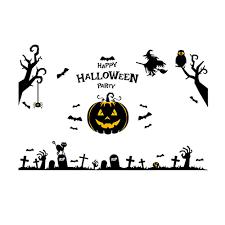 halloween wall stickers home decor pumpkin halloween wall sticker black in wall stickers