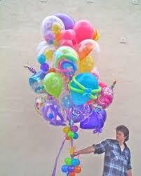 balloon delivery winston salem nc jumbo bouquet featuring a 3 foot confetti balloon polka dot