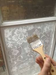 How To Frost A Bathroom Window Add Lace To Your Window With Cornstarch For Privacy And It