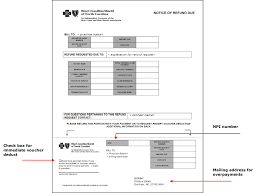updates to provider claims refund request form