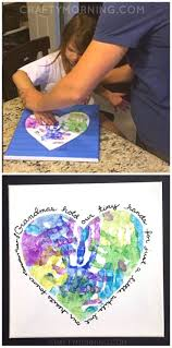 heart handprint canvas for grandma or mom on mother u0027s day great