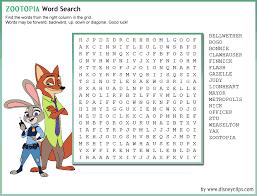 printable disney word search 2 disney s world of wonders