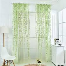 Window Sheer Curtains 200x100cm Willow Floral Sheer Curtains Panel Voile Tulle Window