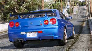 cars nissan skyline nissan skyline gt r bnr34 add on gta5 mods com