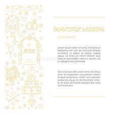 a illos de boda invitación de boda hecha en la línea estilo oro ilustración