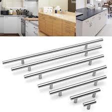 kitchen cupboard door knob handle 10mm diameter t type stainless steel cabinet handles hollow kitchen cupboard door knob furniture hardware drawer pulls
