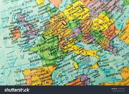 Europe On Map by Closeup Europe On Globe Stock Photo 117243409 Shutterstock