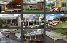 Motorized Patio Covers Design Production Installation For Outdoor Automatic Aluminum