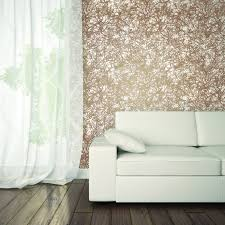 wall decor forest self adhesive wallpaper in copper design by