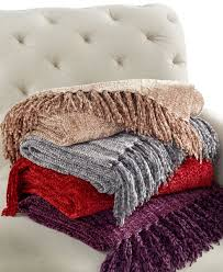Pottery Barn Fur Blanket Charter Club Blanket Chenille Throw Red 50