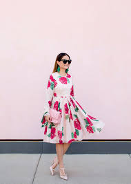 Rachel Parcell Blog by Rachel Parcell Floral Print Dress And Pink Chanel Flap Bag