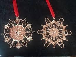 lenox ornaments colors of gold gold snowflake