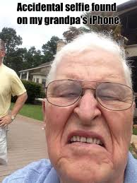 Selfie Meme Funny - accidental grandpa selfie weknowmemes