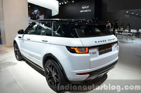 range rover rear 2016 range rover evoque rear quarter at the 2015 iaa indian