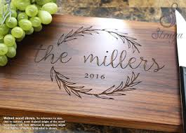 personalized wedding cutting board personalized cutting board engraved cutting board wedding
