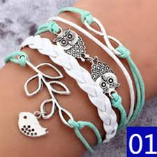 woman charm bracelet images New fashion jewelry infinite double leather multilayer charm jpg