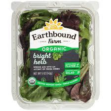 earthbound farm organic bright herb 5 oz clamshell walmart com