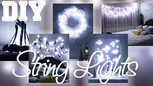 5 diys with string lights youtube