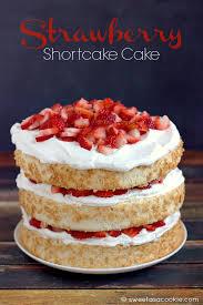 strawberry dessert made with angel food cake