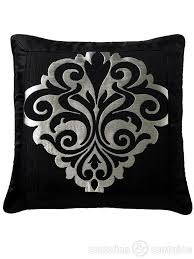 black patterned cushions damask black and silver designer cushions 18x18 inches designer