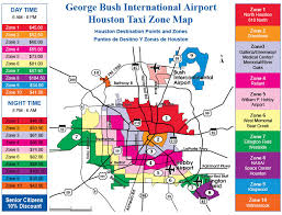 map houston airports george bush intercontinental airport taxi zone map iah taxi
