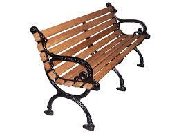 elegant wooden park bench