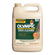 what is the best cleaning product for wood cabinets olympic 128 oz premium deck cleaner 52125a 01 the home depot