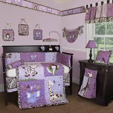 Purple Crib Bedding Set Bedroom Astonishing Animal Purple Crib Bedding Set Ideas The