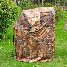 Tree Trunk Hunting Blind Pop Up Deer Ground Hunting Chair Blind Camouflage