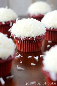 coconut red velvet cupcakes your cup of cake